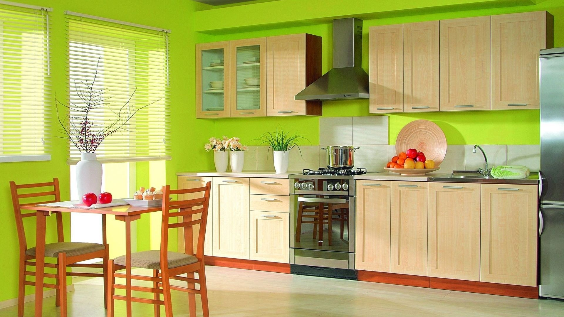 кухонные обои с красным рисунком фото каталоги