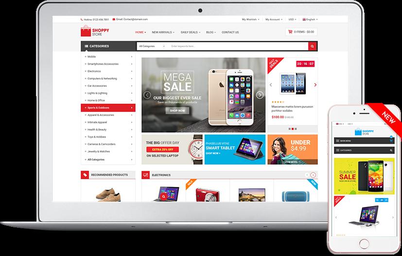 Shoppy Store - Premium Multipurpose HTML5/CSS3 Theme