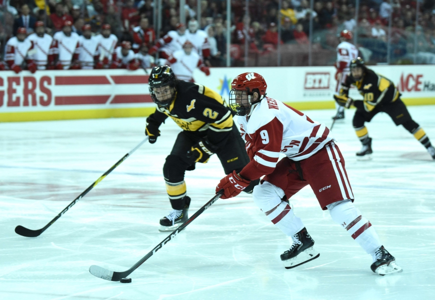 Badgers drop two games against tough North Dakota squad